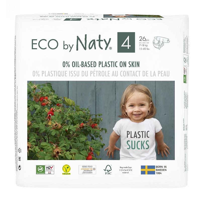 Immagine di Eco by Naty Pannolini ecologici 4 (7-18 kg) 26 pezzi