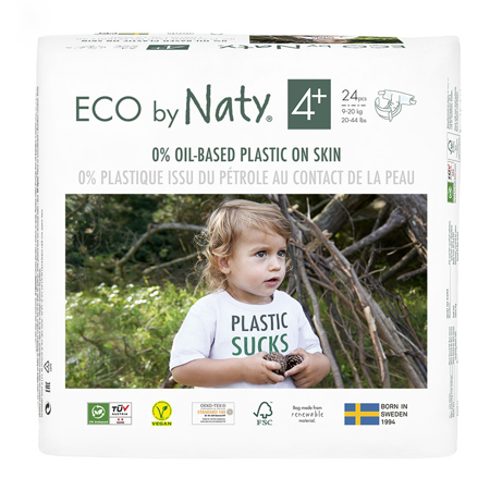 Immagine di Eco by Naty® Pannolini ecologici 4+ (9-20 kg) 24 pezzi