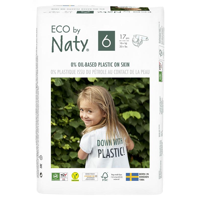 Immagine di Eco by Naty® Pannolini ecologici 6 (16+ kg) 17 pezzi