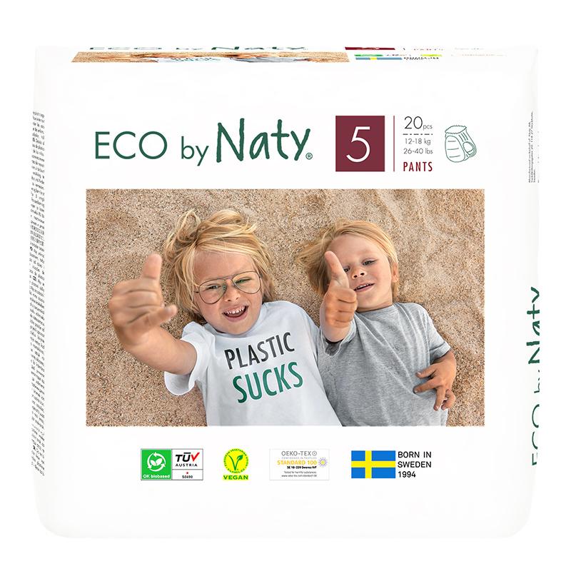 Immagine di Eco by Naty®  Pannolini a mutandina 5 (12-18 kg) 20 pezzi