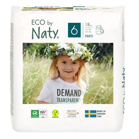 Immagine di Eco by Naty® Pannolini a mutandina 6 (16+ kg) 18 pezzi