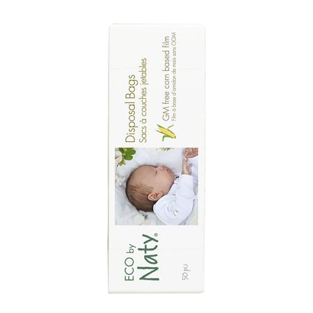 Immagine di Eco by Naty®  Borsa per pannolini degradabile 50 pezzi
