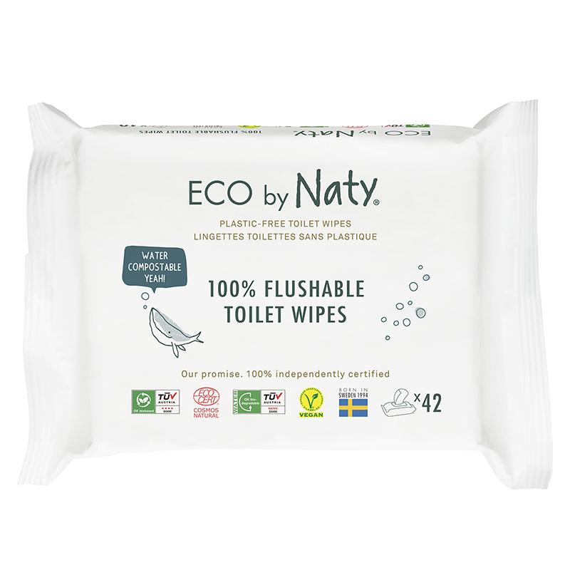 Immagine di Eco by Naty® Salviettine rinfrescanti Flushable 42 kosov