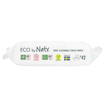 Eco by Naty® Salviettine rinfrescanti Flushable 42 kosov