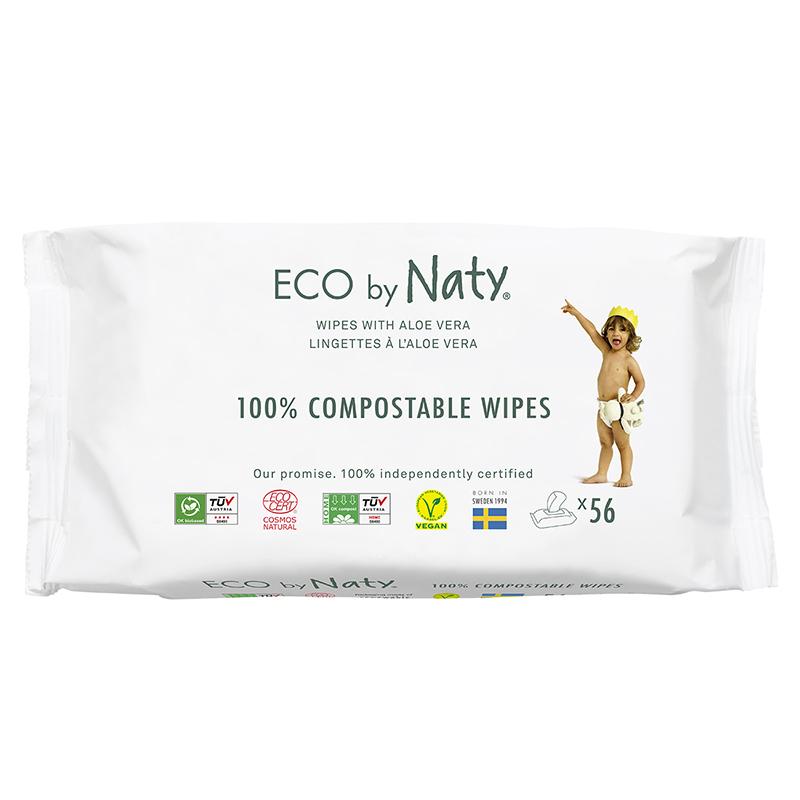 Immagine di Eco by Naty® Salviettine rinfrescanti Aloe 56 kosov