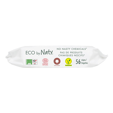 Immagine di Eco by Naty® Salviettine rinfrescanti Lightly Scented 56 kosov