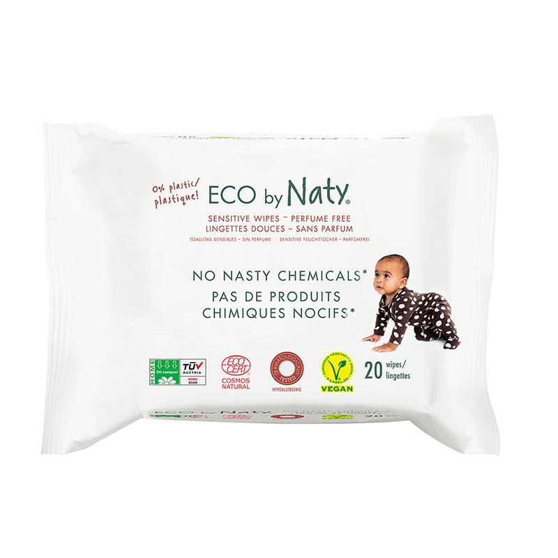 Immagine di Eco by Naty® Salviettine rinfrescanti Travel Pack 20 kosov