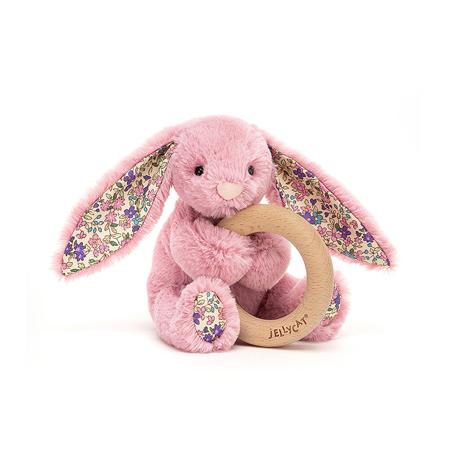 Immagine di Jellycat®  Coniglietto di peluche con anello in legno Blossom Tulip 13cm