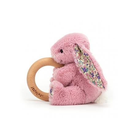 Jellycat®  Coniglietto di peluche con anello in legno Blossom Tulip 13cm
