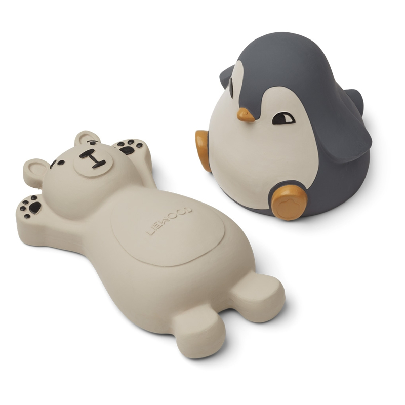 Immagine di Liewood® Set 2 giochi per il bagnetto Knud Polar Bear/Penguin Blue Mix