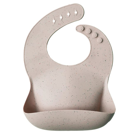 Mushie®  Bavaglino in silicone Shifting Sand Terrazzo