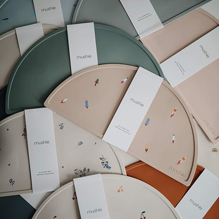 Mushie® Tovaglietta in silicone Vanilla Confetti