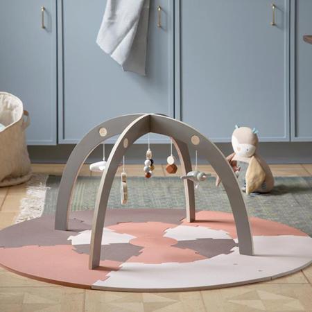 Sebra® Arco in legno con giocattoli Jetty Grey