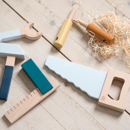 Sebra® Strumenti di legno Jetty Grey