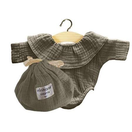 Immagine di Minikane® Vestito per le bambole Colette Vert Olive 34cm