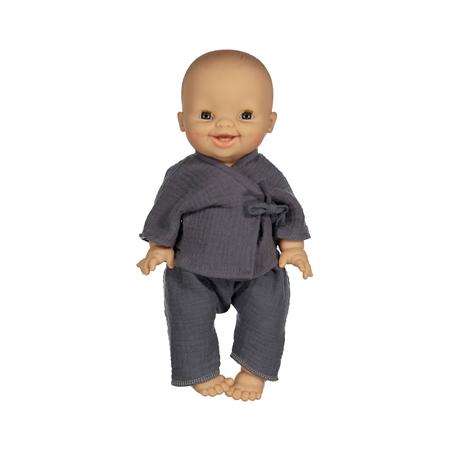 Minikane® Vestito per le bambole Kimono Niko Bleu artic 34cm