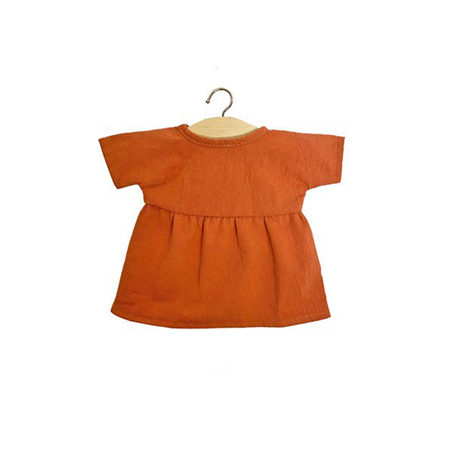 Minikane® Vestito per le bambole Faustine Terre de Sienne 34cm