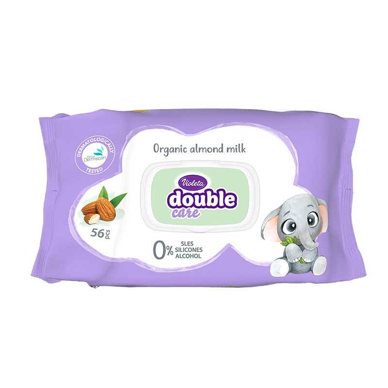 Immagine di Violeta® Salviettine umidificate per bambini con Latte di mandorle 56/1