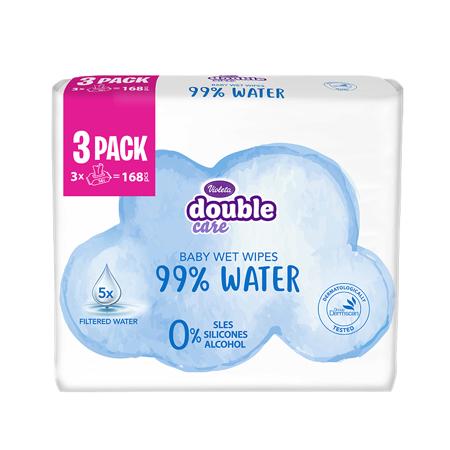 Immagine di Violeta® Salviettine umidificate Water Care 3x56/1