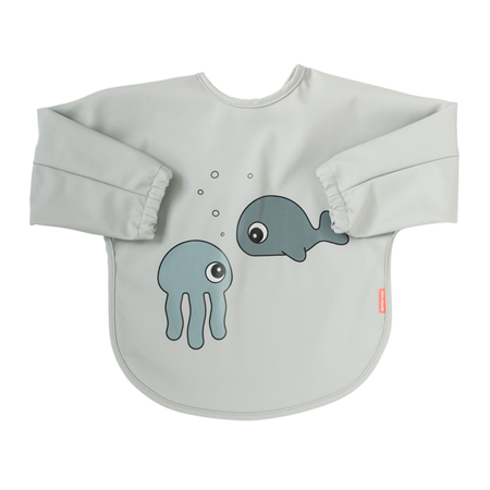 Immagine di Done by Deer® Bavaglino con maniche Sea friends Grey 6-18m