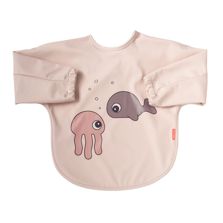Immagine di Done by Deer® Bavaglino con maniche Sea friends Powder 6-18m