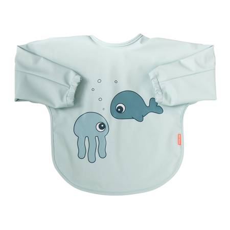 Immagine di Done by Deer® Bavaglino con maniche Sea friends Blue 6-18m