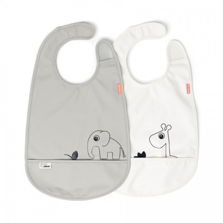 Immagine di Done by Deer® Set di 2 bavaglini Deer friends Grey/Beige