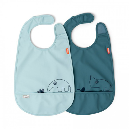 Immagine di Done by Deer® Set di 2 bavaglini Deer friends Blue