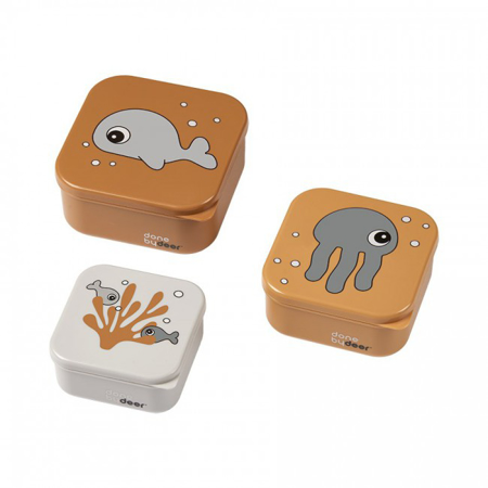 Immagine di Done by Deer® Contenitori merenda Sea friends Mustard/Grey