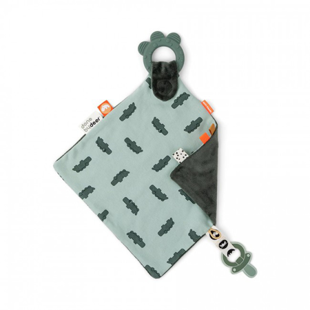 Immagine di Done by Deer® Doudou con massaggiagengive Croco green