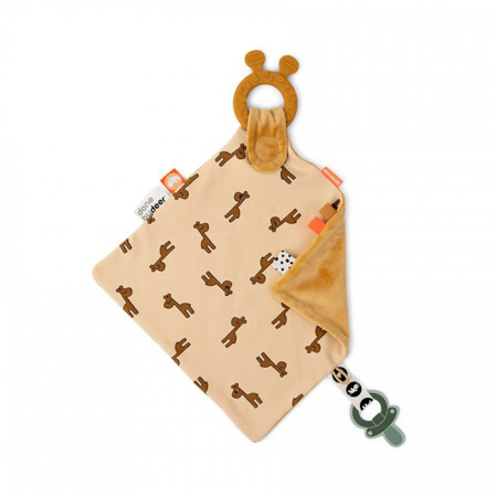 Immagine di Done by Deer® Doudou con massaggiagengive Raffi Mustard