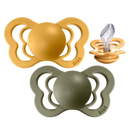 Immagine di Bibs® Ciuccio  Couture Silikon Honey Bee & Olive 2 (6-18m)