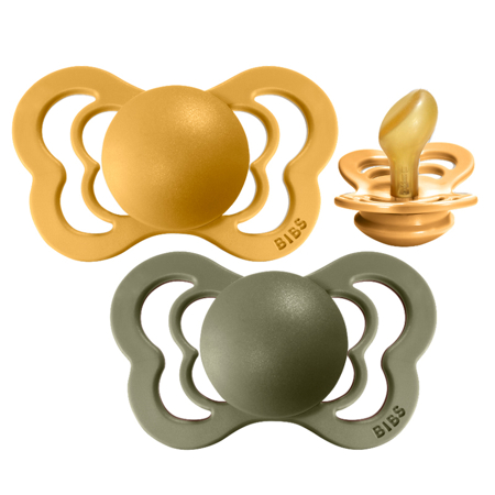 Immagine di Bibs®Ciuccio  Couture Lateks Honey Bee & Olive 1 (0-6m)
