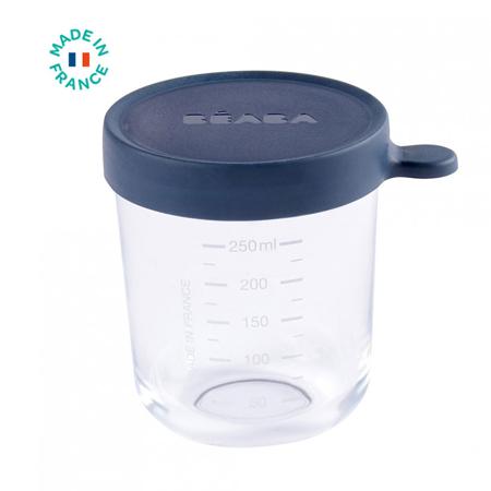Beaba® Contenitore per alimenti in vetro 250ml Dark Blue