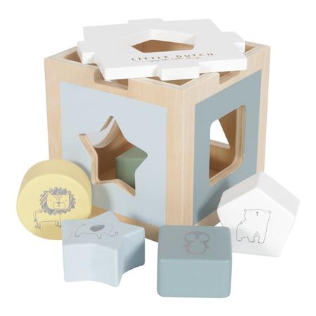 Immagine di Little Dutch® Cubo didattico per lo smistamento delle forme Zoo Blue