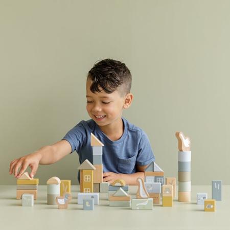 Little Dutch® Cubi da costruzione Little Goose Blue