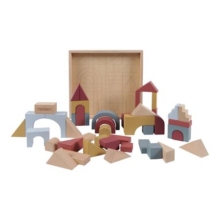 Little Dutch®  Cubi di legno per la costruzione Pure & Nature