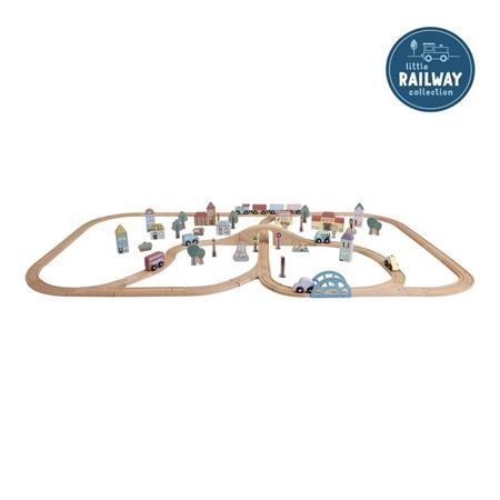 Immagine di Little Dutch® Set XXL del treno ferroviario- Starterkit
