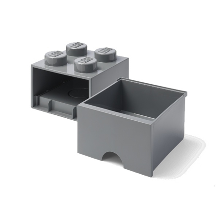 Lego® Contenitore con 4 Cassetti Dark Grey