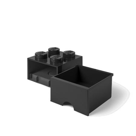 Lego® Contenitore con 4 Cassetti Black