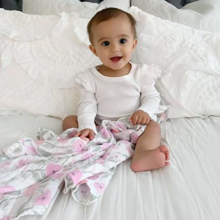 Immagine di Aden+Anais® Set di 3 pannolini tetra Ma Fleur 70x70