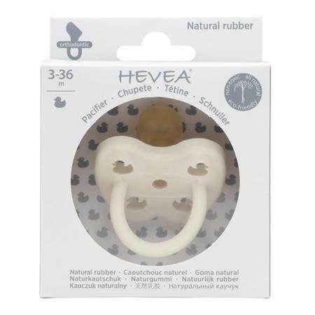 Immagine di Hevea® Ciuccio ortodontico in caucciù Colourful (3-36m) Snow White