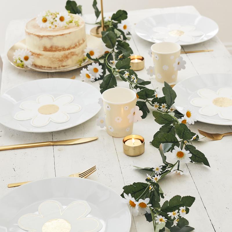 Immagine di Ginger Ray® Ghirlanda decorative Daisy Foliage Garland