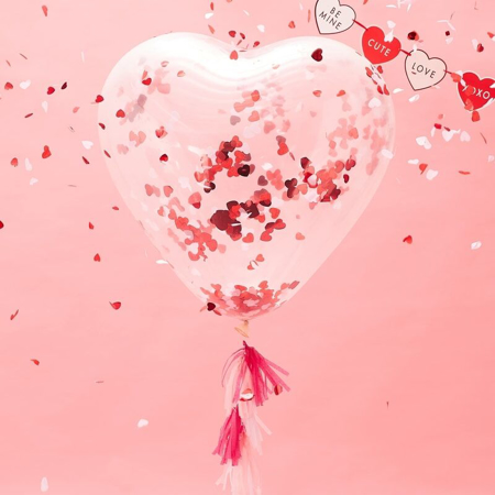 Immagine di Ginger Ray® Palloncino con coriandoli Heart