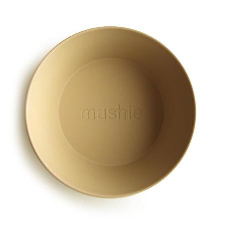 Mushie® Set di due ciotole Mustard