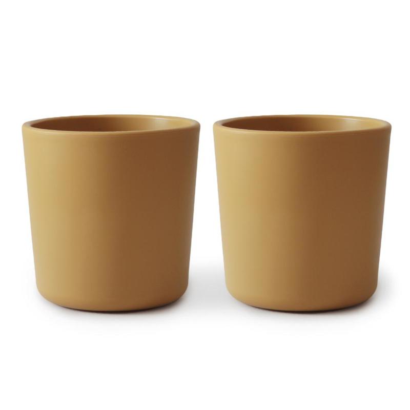 Immagine di Mushie® Set di due bicchieri Mustard