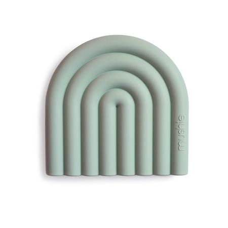 Immagine di Mushie® Massaggiagengive arcobaleno Cambridge Blue