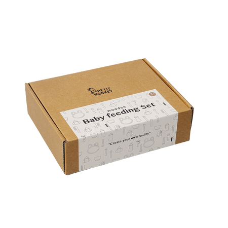 Immagine di Petit Monkey® Set in legno Baby Feeding