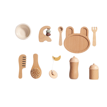 Petit Monkey® Set in legno Baby Feeding