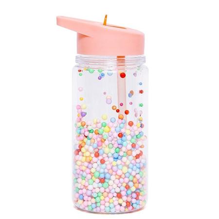 Petit Monkey® Bottiglia con cannuccia Marcaron Pops Soft Coral